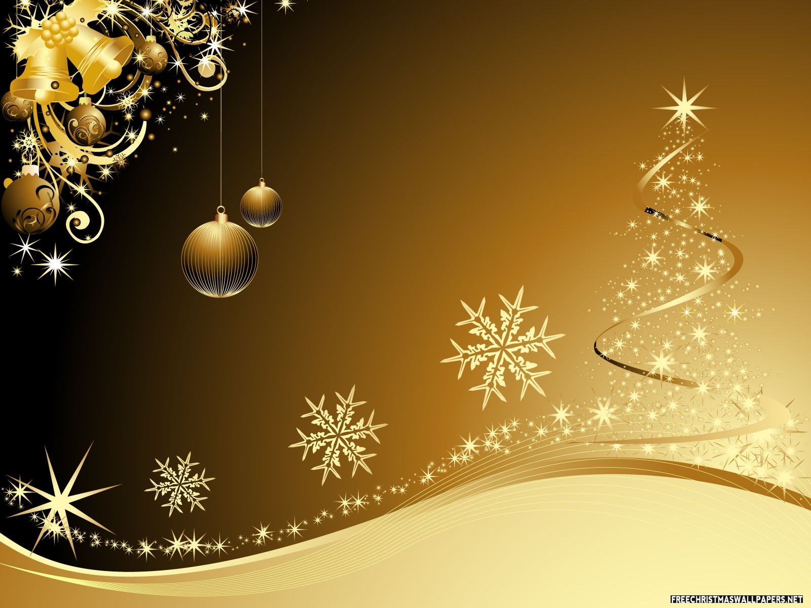 gold christmas tree wallpaper - photo #27