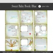 Got to have this kit!!   Jackie Eckles Quick Pages » Sweet Baby Book: Blue Quick Pages