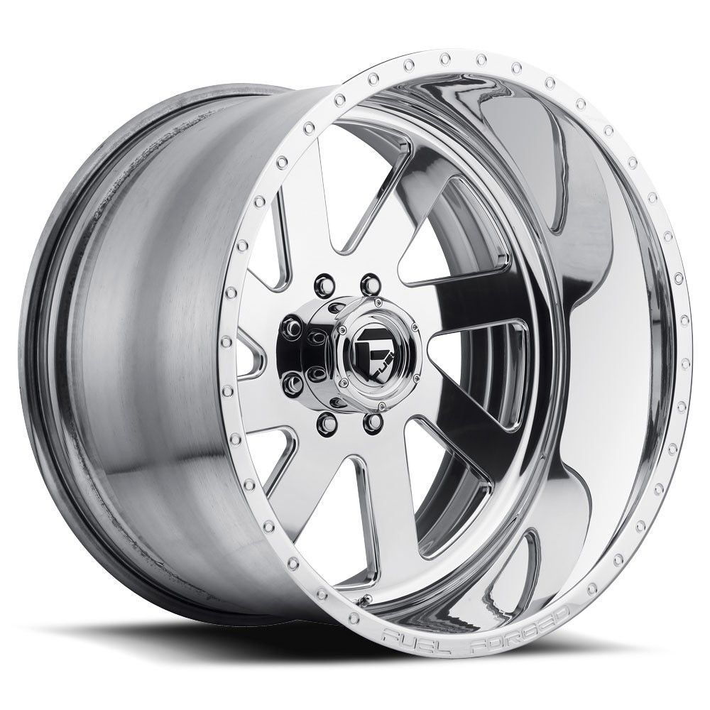 Buy polished fuel forged wheels trail grappler 40 tires at online store