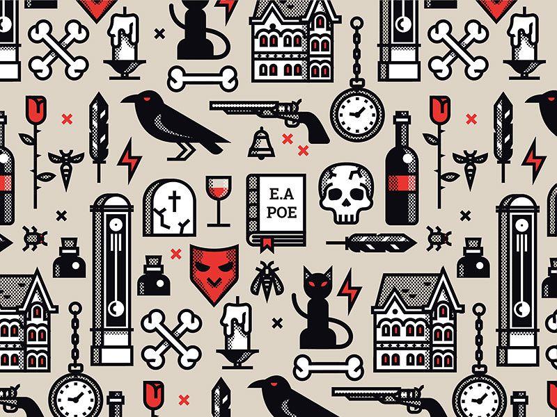 Edgar Allan Poe pattern in 2020 Edgar allan poe, Edgar