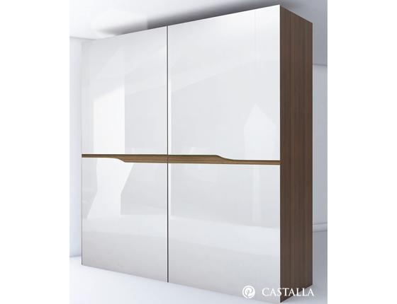 Armario vela apertura de armario coplanar lacado blanco for Plano b mobilia