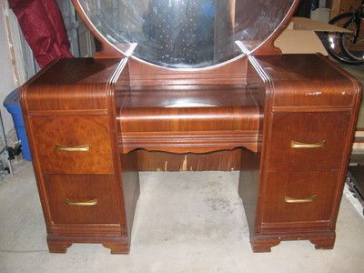 Mahogany Bedroom Furniture On Art Deco Waterfall Bedroom Set S - Antique bedroom furniture 1930