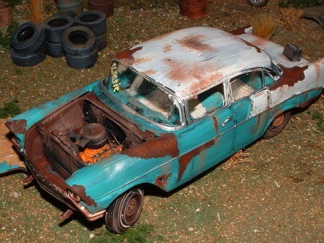1 24 1 25 Barn Garage Diorama For Sale On Ebay: Junkyard Car Ideas