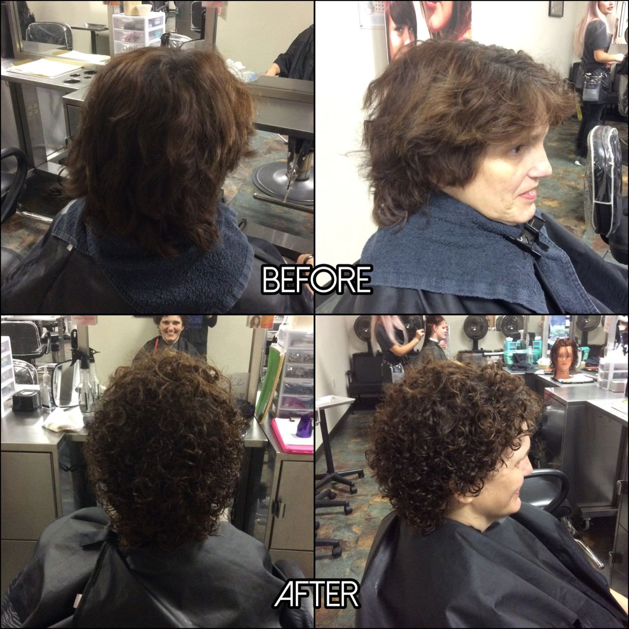 Straight perm solution - This Was A Perm Redo I Did And We Got The Perfect Curl She Loved