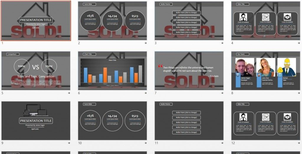 real estate powerpoint template by sagefox free powerpoint