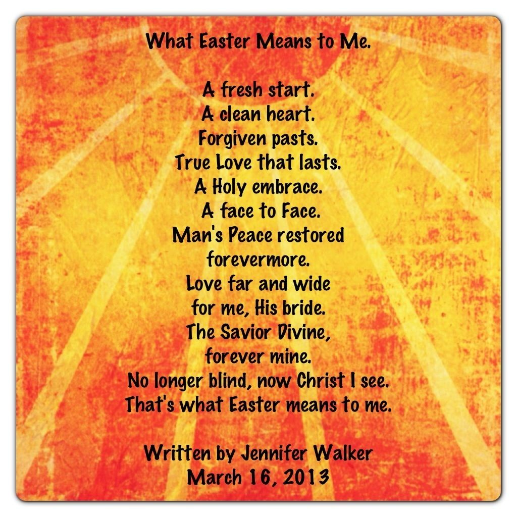 """What Family Means To Me Quotes: """"What Easter Means To Me"""" By Jennifer Crawford Walker"""