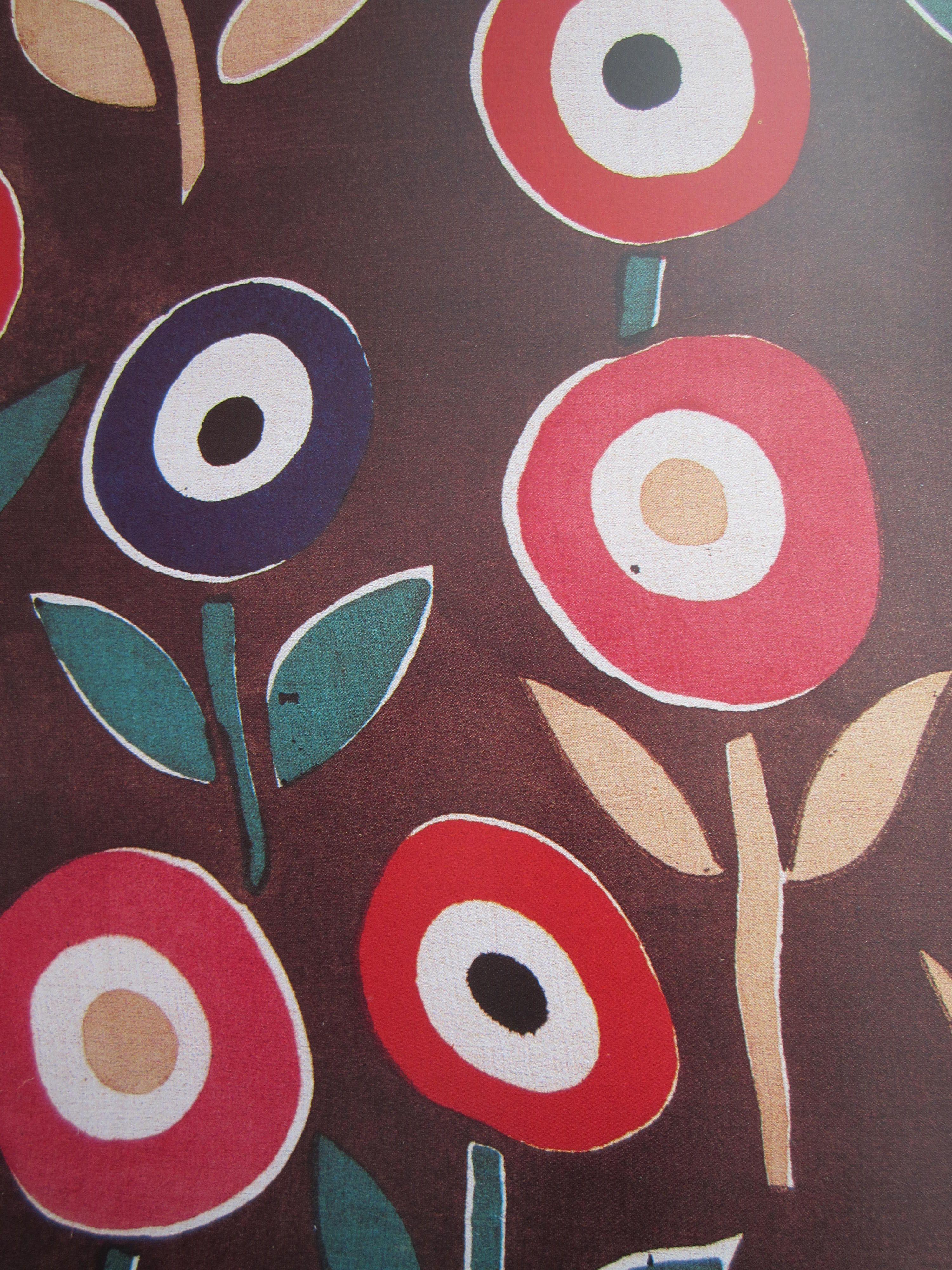 sonia delaunay semis de fleurs stylis es 1923 1924. Black Bedroom Furniture Sets. Home Design Ideas