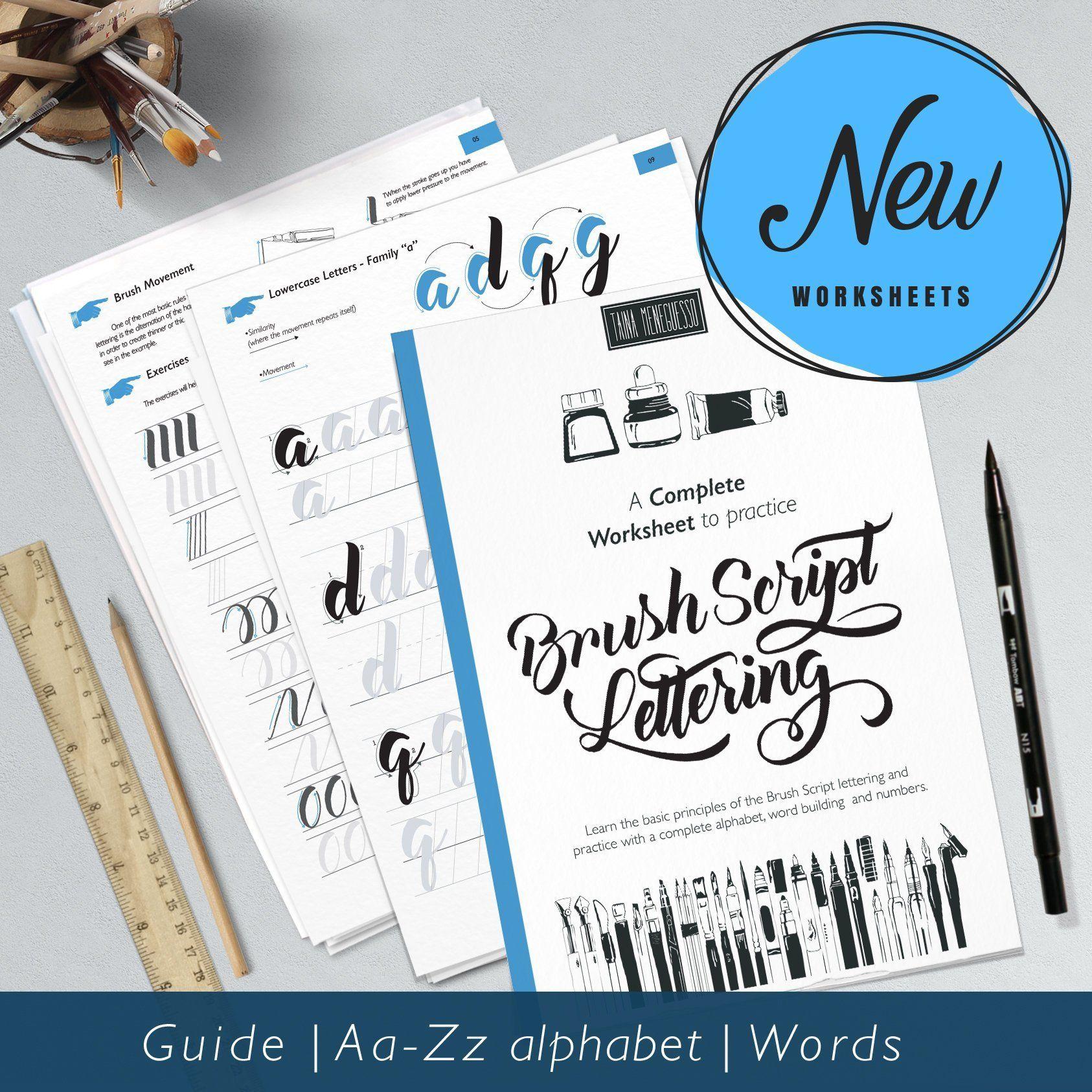 Learn Brush Lettering Printable Script Lettering
