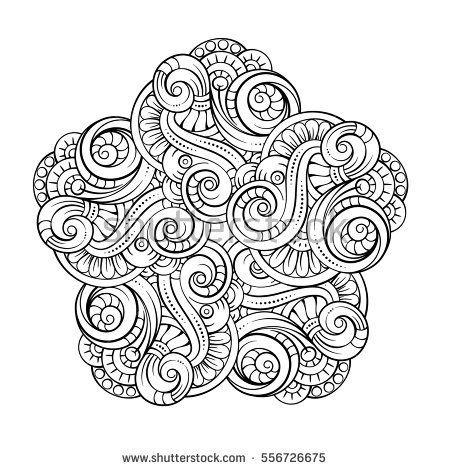 Vector Abstract Black And White Mandala Pattern Mandala Coloring Pages Sharpie Art Mandala Coloring