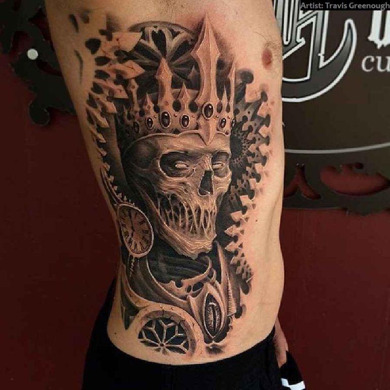 40 crazy skull tattoos tattoo ideen t towierungen und sch del. Black Bedroom Furniture Sets. Home Design Ideas