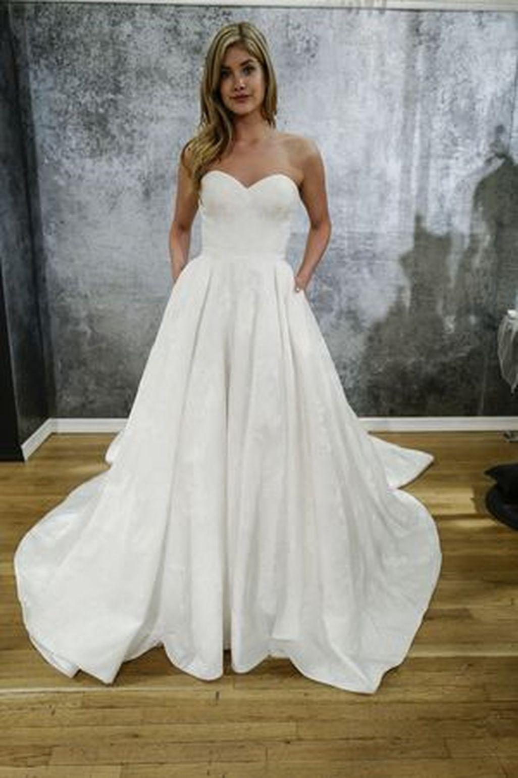48++ Strapless a line wedding gown ideas