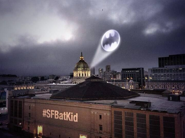Today, the city of San Francisco restores our faith in humanity. It was transformed into Gotham City for an entire day for 5 year old Miles who has been battling leukemia since he was 2. A staged robbery, a donated Lamborghini batmobile, a rescue mission for a damsel in distress and a bat signal lighting up the entire city, truly a city with a heart!