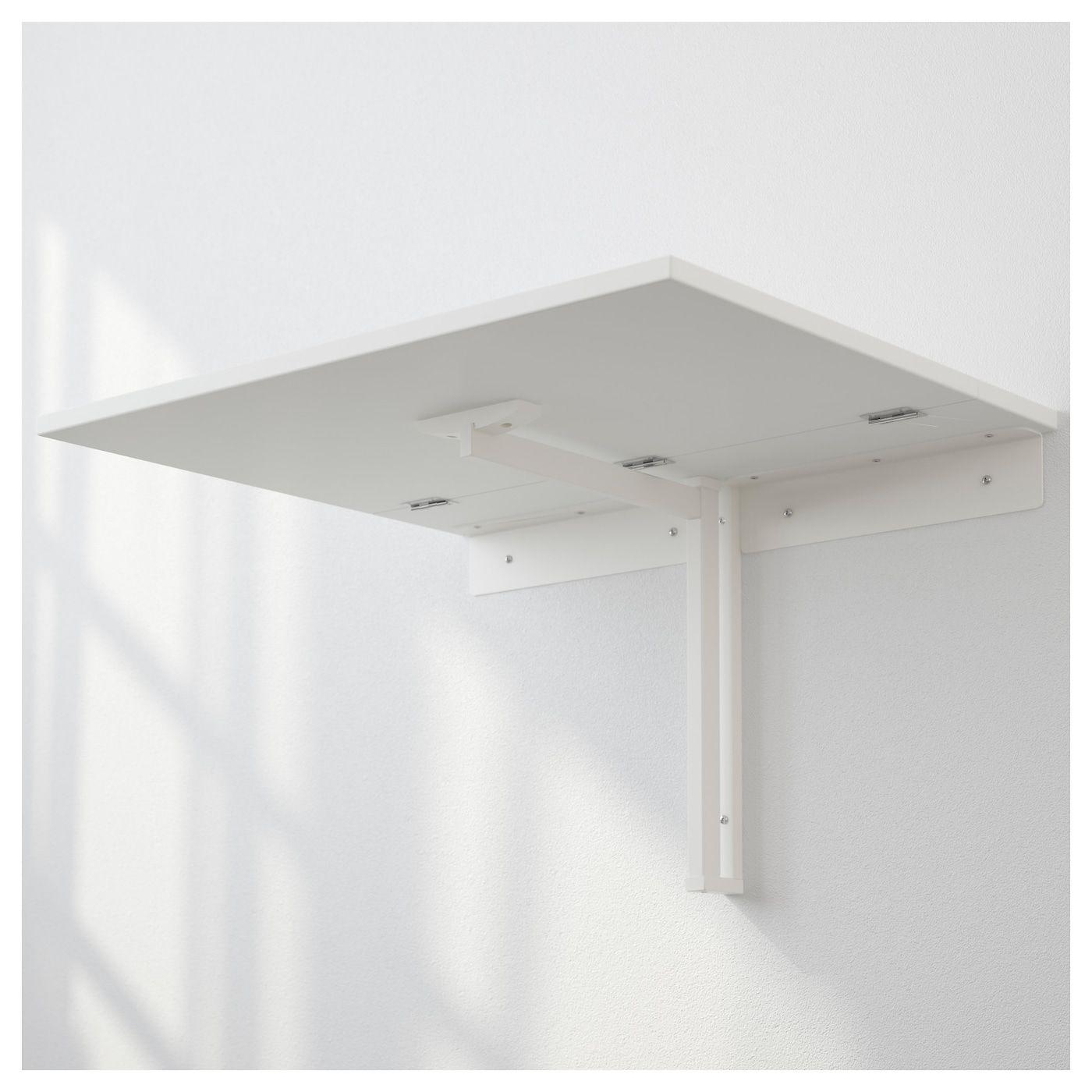 Tavolo Da Muro Pieghevole Ikea.Norberg Tavolo Ribaltabile Da Parete Bianco Arredamento Nel