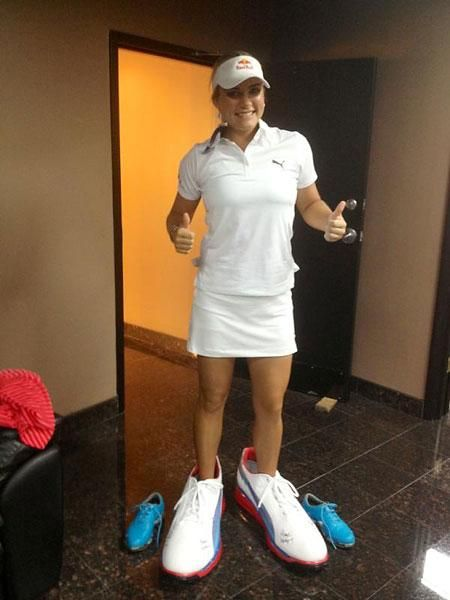 3a4fbbd7d4 Lexi Thompson, Puma shoes My new golf shoes, i think I'll stay in position  in these :P #puma