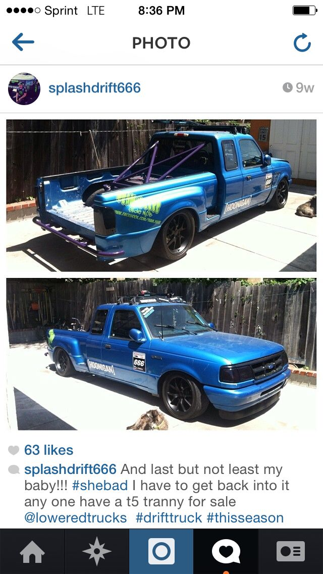 Drift Truck 94 Ford Ranger Splash Splashdrift666 Drift Truck