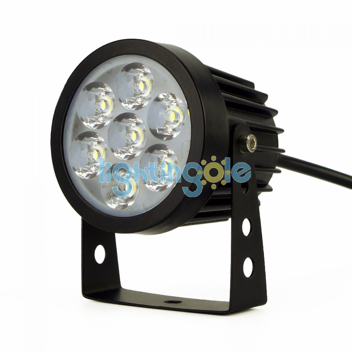 7w 12v Silver 7led Underwater Flood Light Ip68 Waterproof Landscape Fountain Lamp Warm White Led Lights Lampu Sorot Lampu