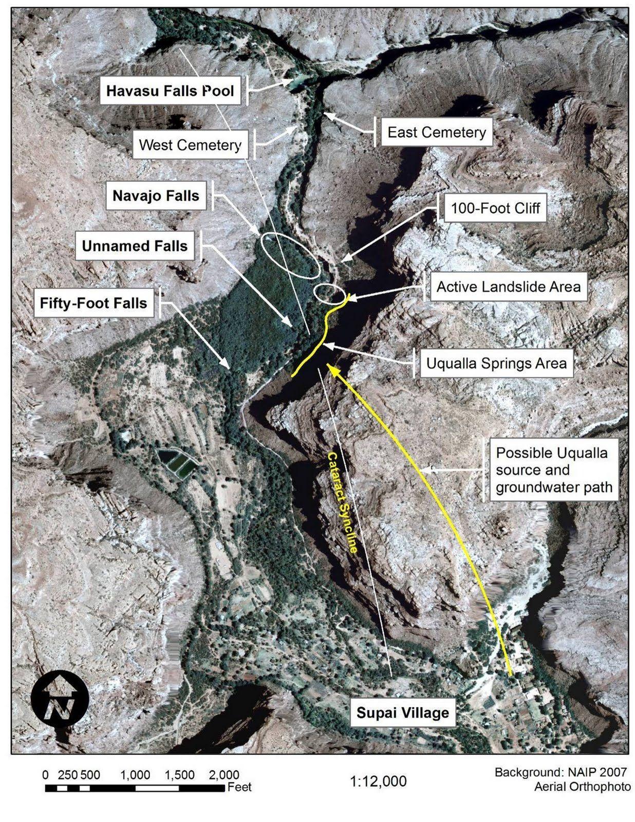 Havasu Falls Map Havasupai Falls Tours Directions | Havasupai Falls Map | Men's