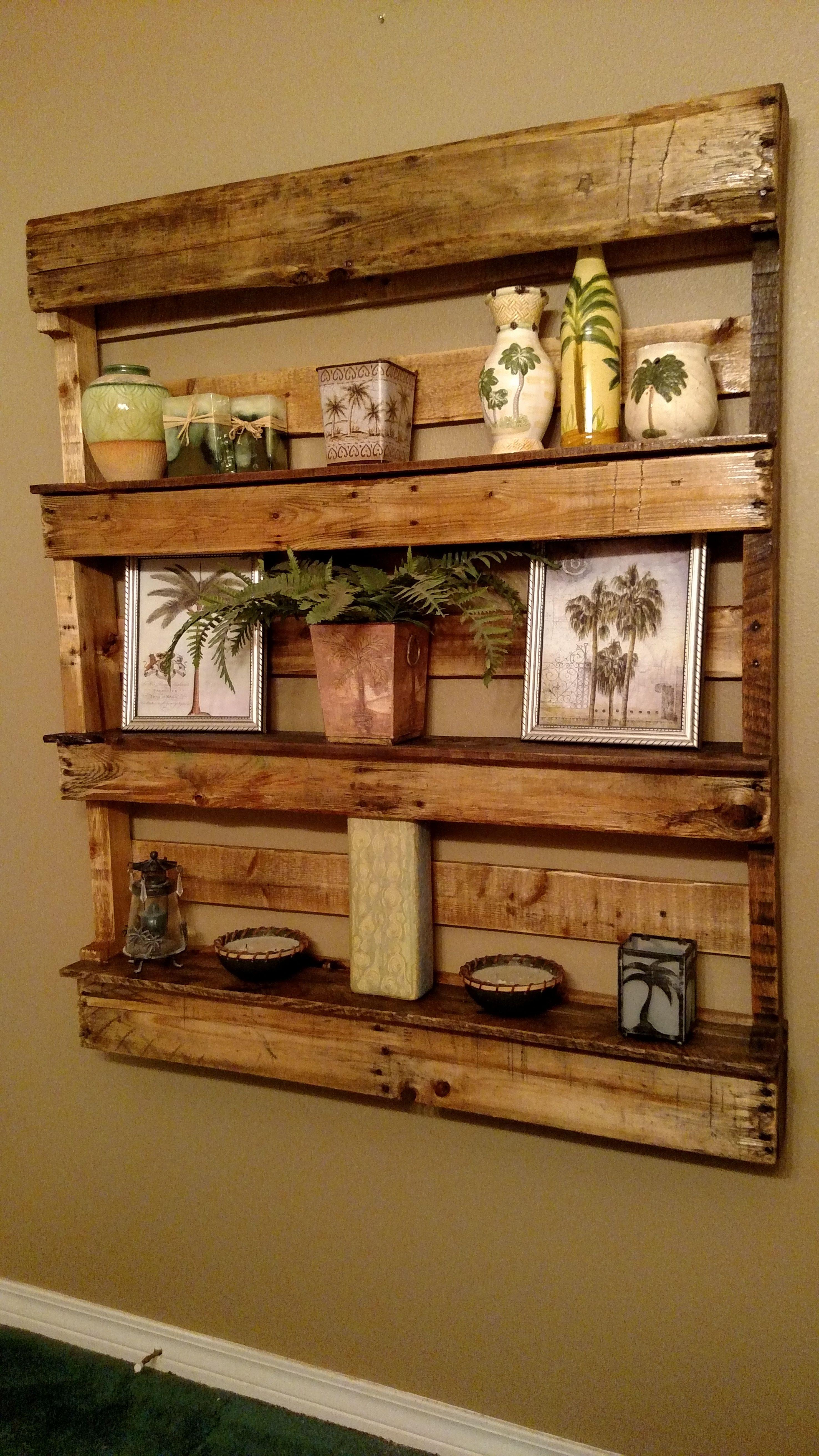 Pallet Wall Shelves Bookshelves