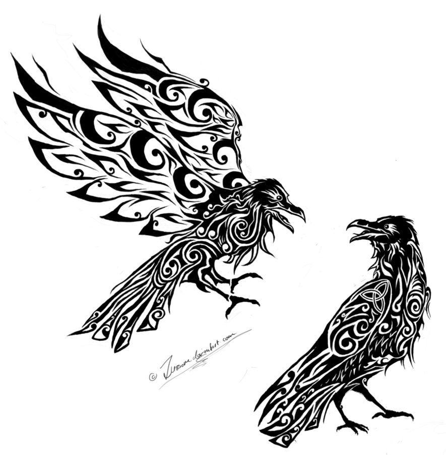 hugin and munin - Google Search | Vikings | Pinterest | Raben ...