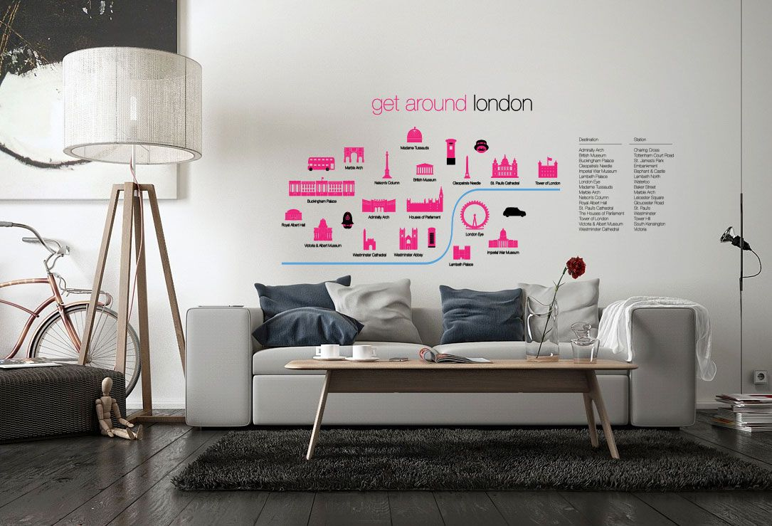 London Underground Tube Map Wall Stickers Wall