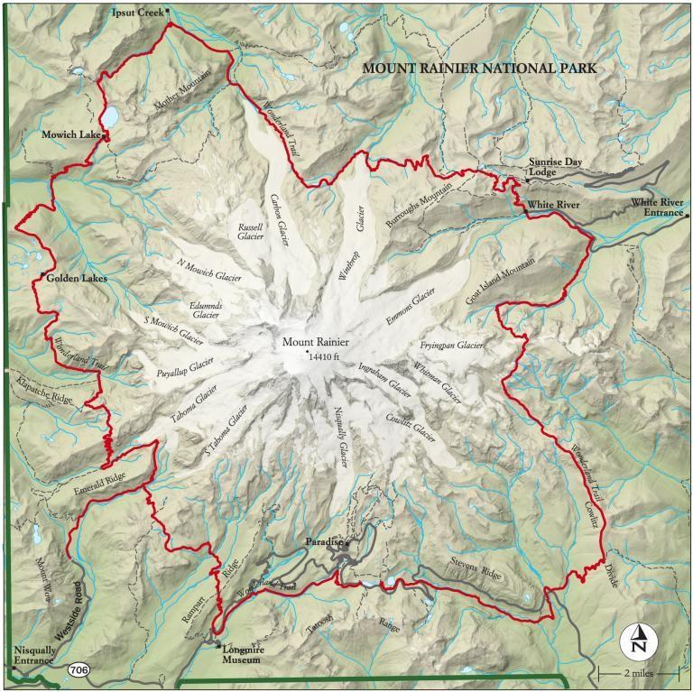 Best Mount Rainier National Park Hike, Trail Map | Bucket