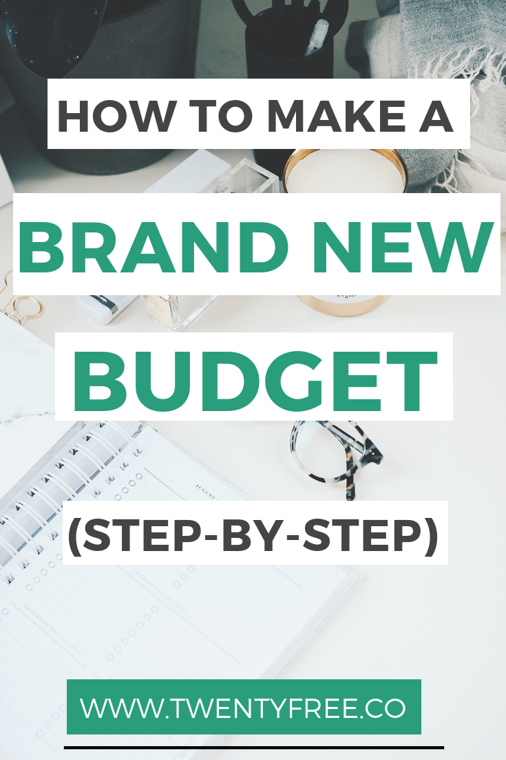 budget cheat sheet  how to make a brand new budget in 6