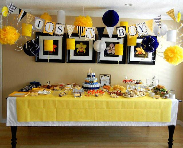 Decoracion economica de baby shower en casa heavenly for Decoracion casa shower