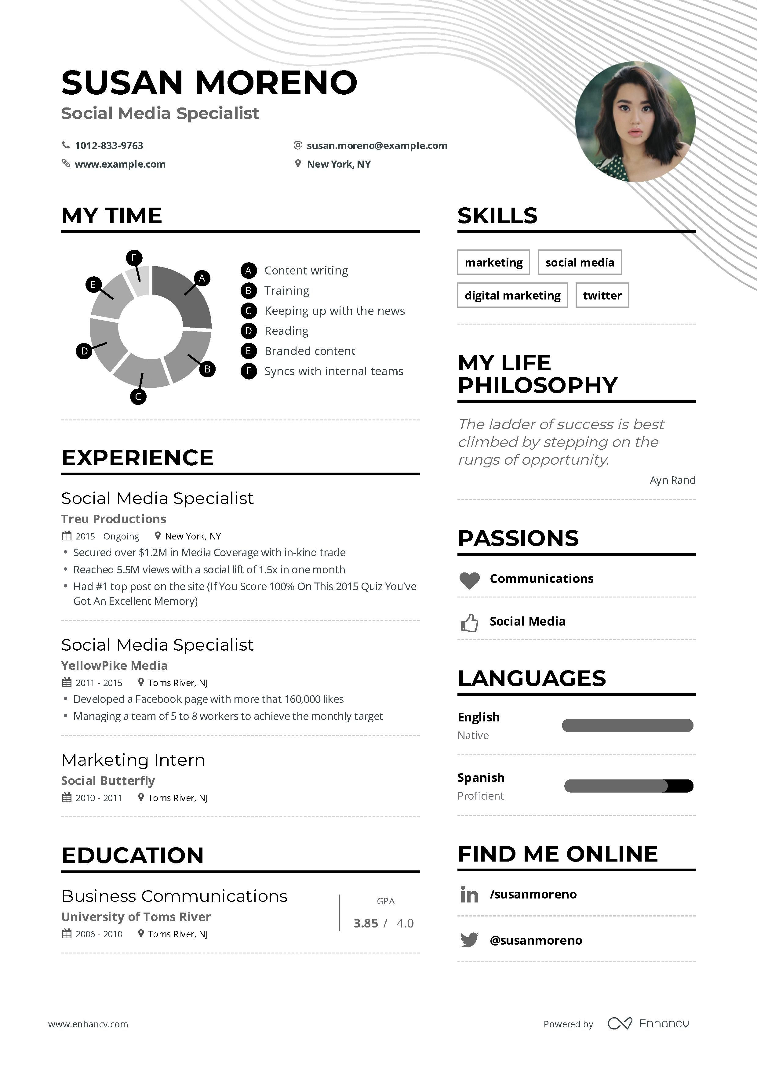 Social Media Specialist Resume Example And Guide For 2019 Marketing Resume Resume Examples Teacher Resume Examples