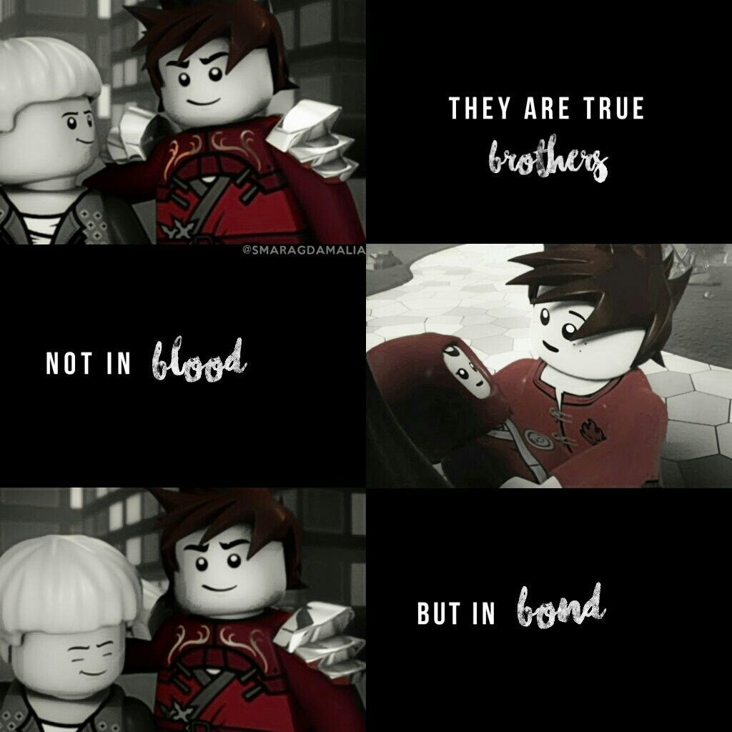 """#NinjagoKai #NinjagoLloyd [""""They are true brothers. Not in blood but in bond.""""] #quote My Edit. Hope you'll like it. :-)"""