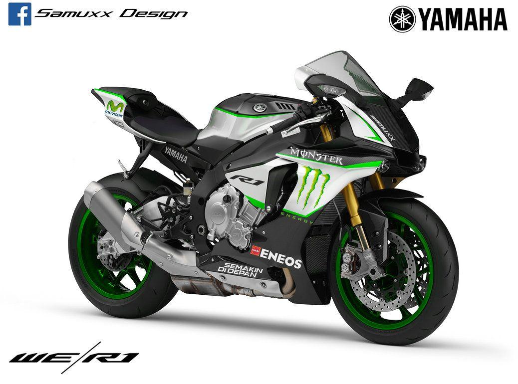 Yamaha yzf r125 usata moto usate 2016 car release date - Yamaha R1 2015 Monster Energy By Samuxx On Deviantart