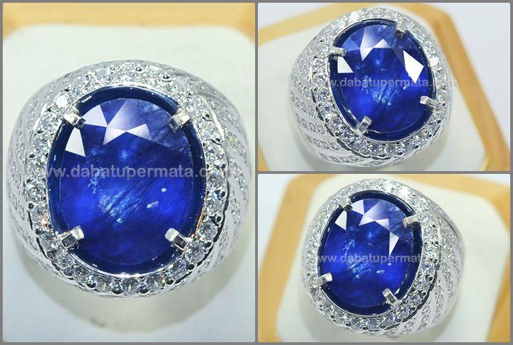 Pin Di Sapphire Gemstone Batu Safir
