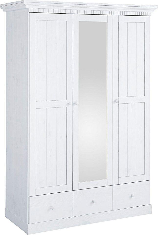 Home affaire Kleiderschrank »Sellin« Zimmer Pinterest - schlafzimmerschrank landhausstil weiß