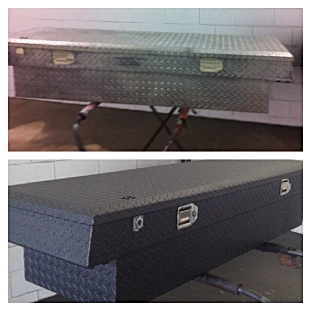 Spray Bedliner On Toolbox Powerstroke Trucks Tool Box