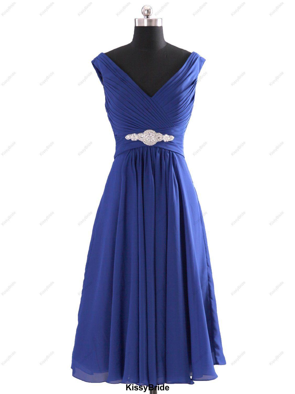 Short bridesmaid dress royal blue bridesmaid dress by kissybride
