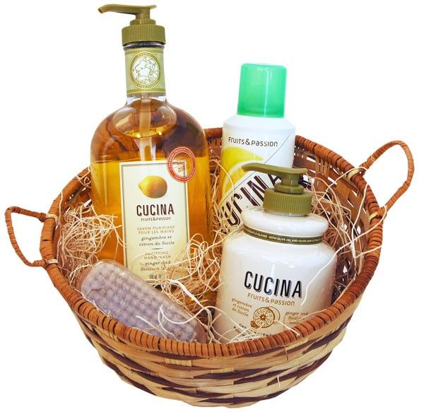 CUCINA Collection Gift Basket- Ginger & Sicillian Lemon (includes ...