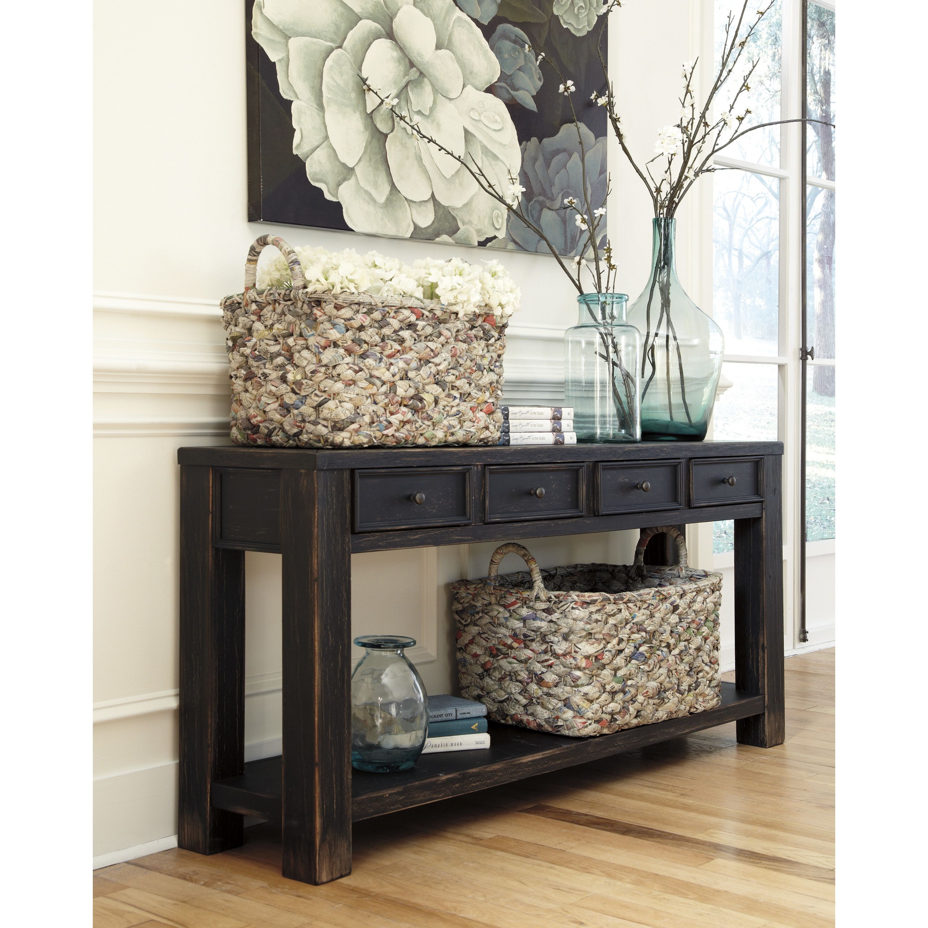 Calvin 64 Console Table With Images Home Decor Black Sofa