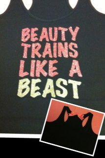 Beauty Trains Like A Beast Glitter Workout by RufflesWithLove, $24.00