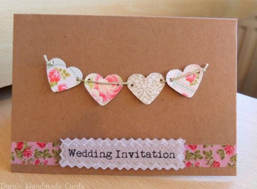 22 Adorable And Easy Diy Wedding Invitations Handmade Wedding Invitations Wedding Invitations Diy Handmade Invitations