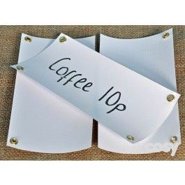 Pack of 30 blank labels. Each comes with two holes for hanging. Wipe clean using spray. 20cm x 10cm