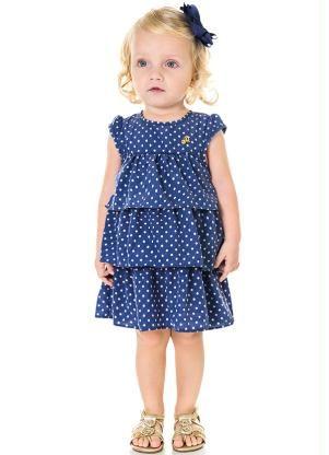 b42dd3a94 Vestido Infantil Milon Azul - Posthaus