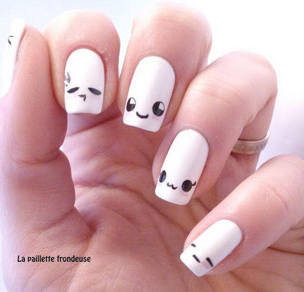 Cute and Happy Smiley Face Nails. What better ways to show your ...