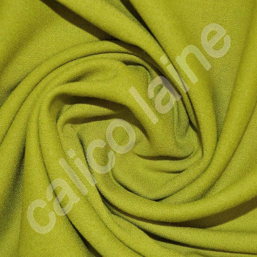 Lime Crepe Fabric (Col 340)