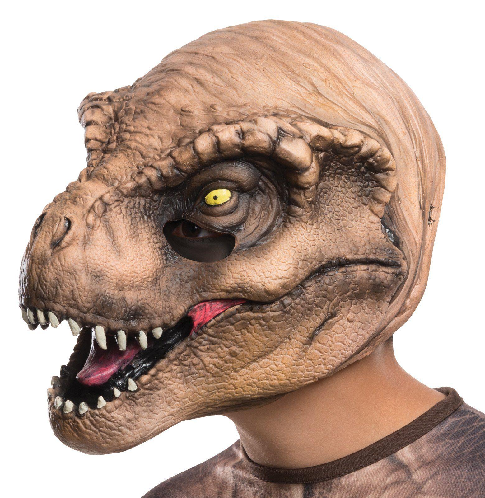 Jurassic World: Kids T-Rex 3/4 Mask   Scary halloween, Halloween ...