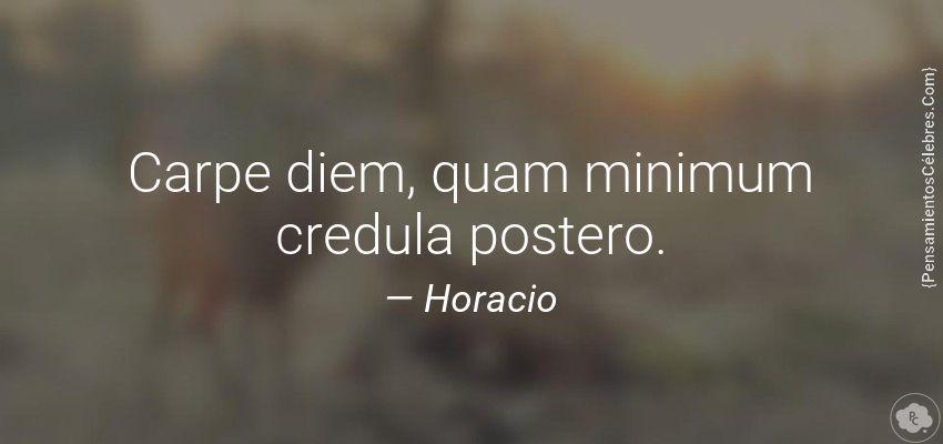 Imagen 1 Carpe Diem Quam Minimum Credula Postero Frases