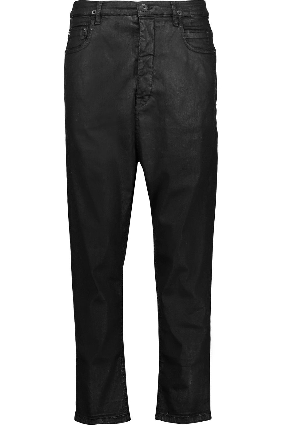 38b00b79404 RICK OWENS Dark Shadow Cropped Coated Jeans. #rickowens #cloth #jeans