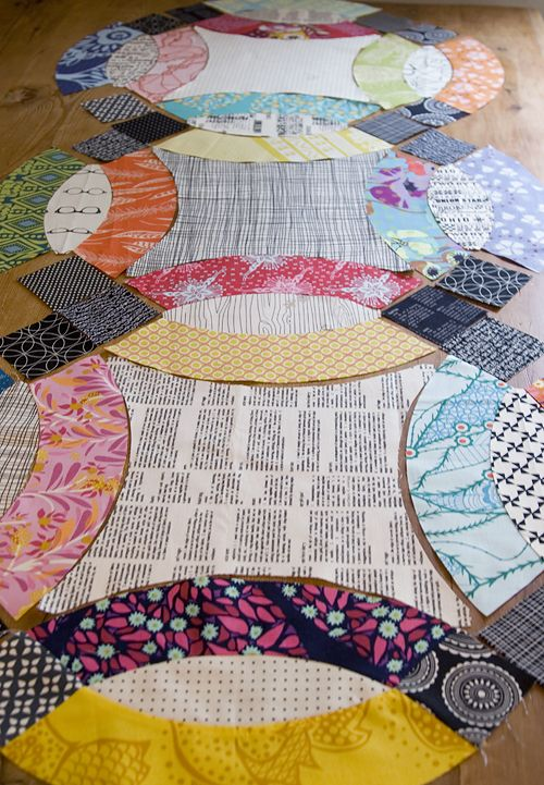 Pin By Erin Cross On Quilty Goodness Double Wedding Ring Quilt Wedding Ring Quilt Circle Quilts