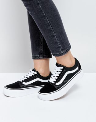 Vans | Vans Old Skool Platform Sneakers In Black And White ...