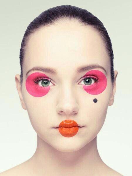 How Would You Caption This Circular Makeup Geometric Makeup