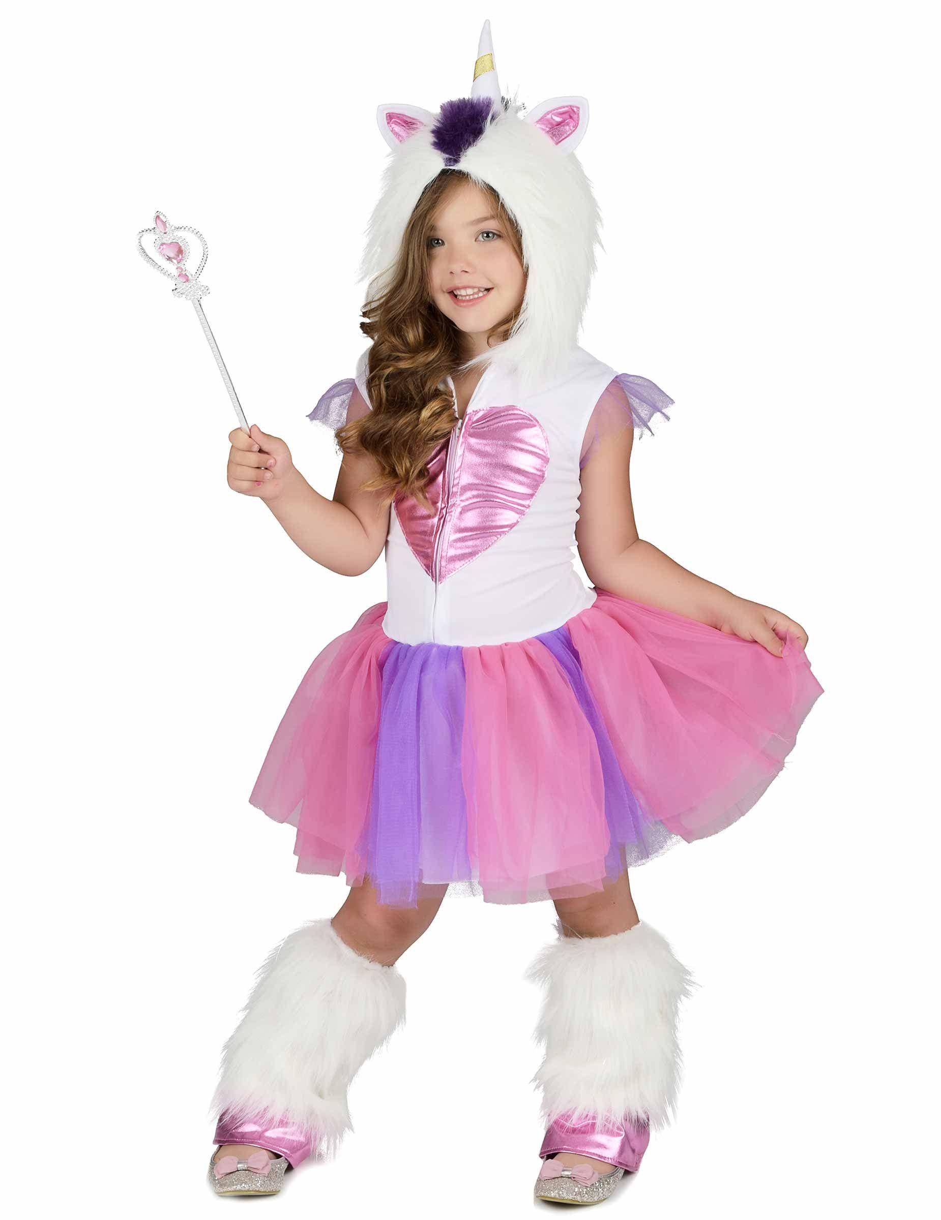 Costume Principessa Unicorno bambina  Questo costume da unicorno per  bambina comprende un vestito e due 1a266b7abeb7