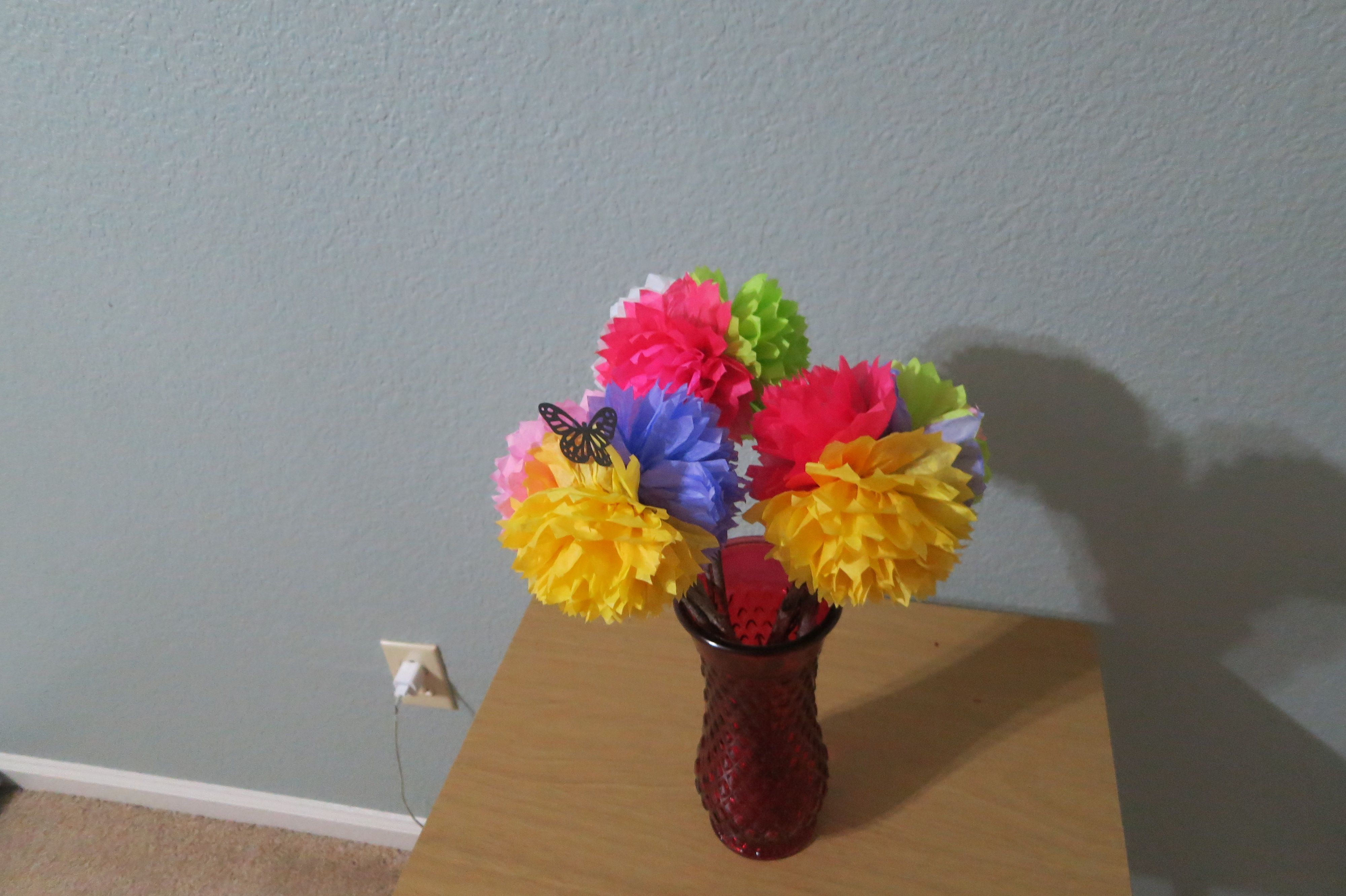 Multi color tissue paper flowers ideas for the house pinterest multi color tissue paper flowers mightylinksfo